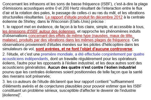 Extrait rapport alain belime 2014