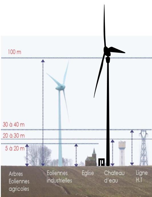 Taille eoliennes